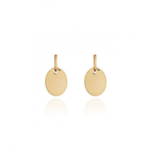 Joma Jewellery Kali Gold Link Earrings