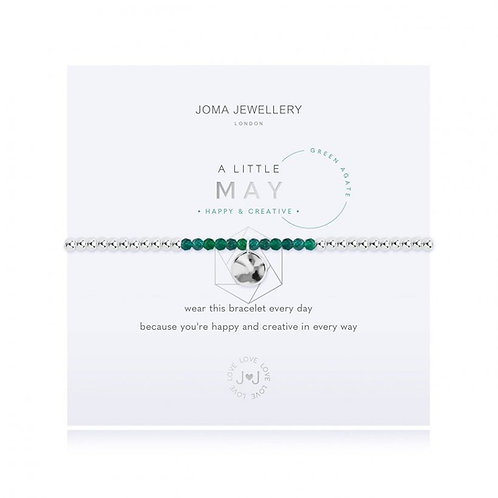 Joma Jewellery May-'a little' Birthstone- Green Agate