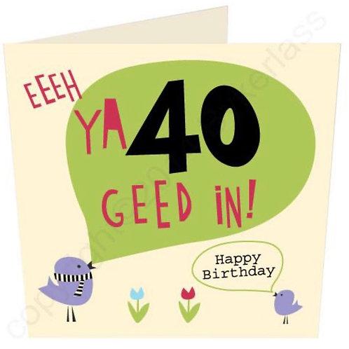 Geordie Cards - 40th
