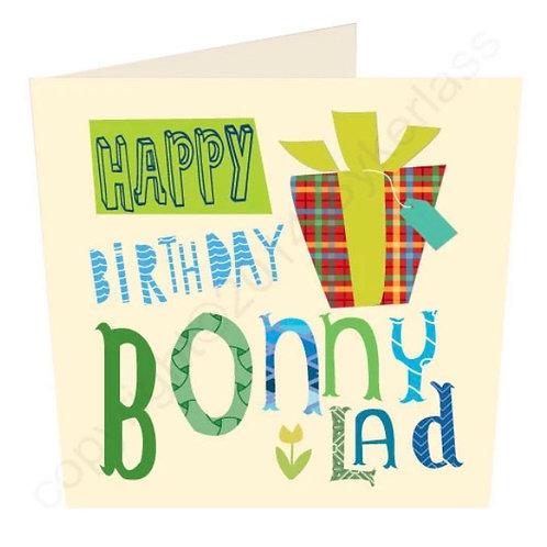 Happy Birthday Bonny Lad- Geordie Card by Wotmalike