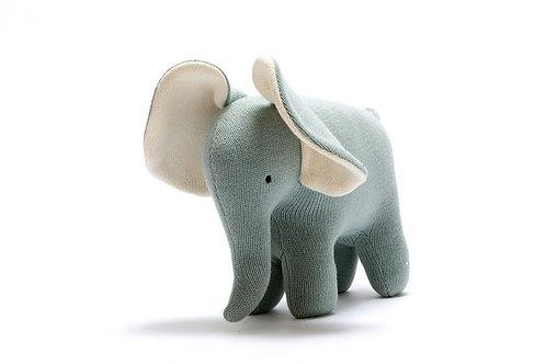 Large Elephant Organic Cotton Toy- Teal
