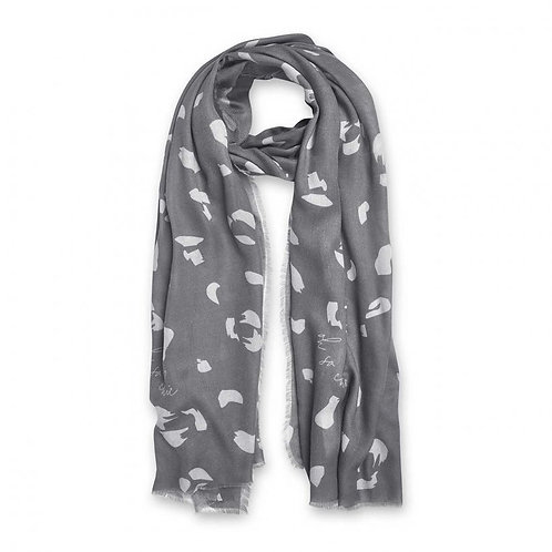 'Oh So Chic' Sentiment Scarf-Katie Loxton- Charcoal