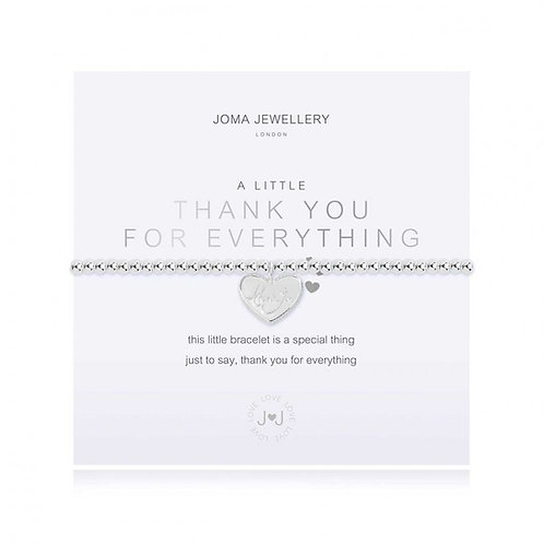 Joma Jewellery- 'a little.... Thank you for Everything' Bracelet