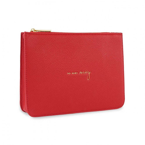 So Very Merry- Katie Loxton Stylish Structured Pouch- Red