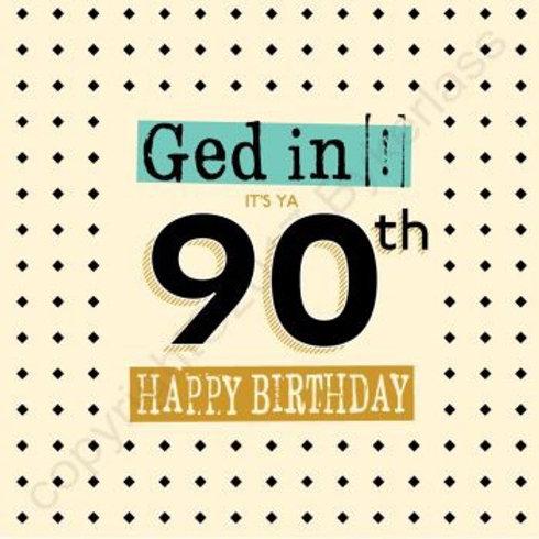 Geordie Cards - 90th