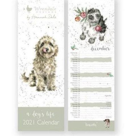 Wrendale A Dog's Life Slim 2021 Calendar
