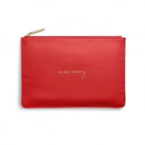So Very Merry- Katie Loxton Perfect Pouch- Red