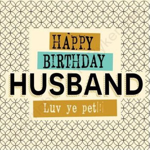 Geordie Cards - Husband