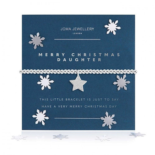 Joma - A Little Merry Christmas Daughter Bracelet-Snow Globe
