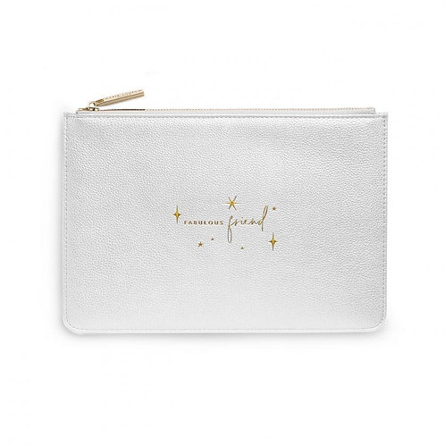 Fabulous Friend-Katie Loxton Perfect Pouch- Metallic Silver