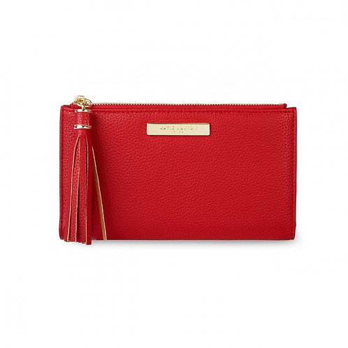 Tassel Fold Out Purse- Red
