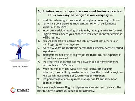 Honest Job Interview in Japan