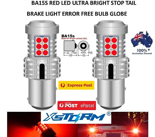 2X 2021 XSTORM 1156 BA15S CANBUS BRAKE STOP TAIL LIGHT LED BULBS
