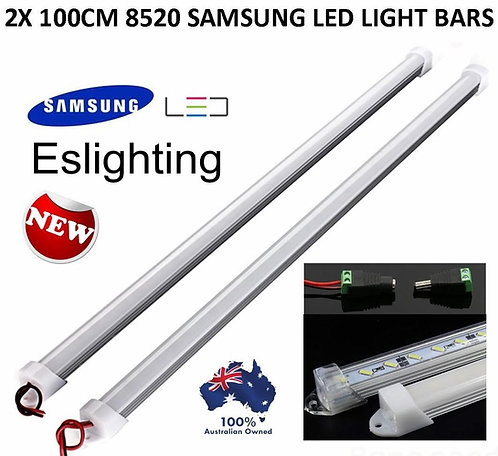 2X 12V 100CM SAMSUNG LED 8520 CAMPING LIGHT BAR