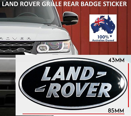 1X LAND ROVER FRONT REAR BADGE STICKER