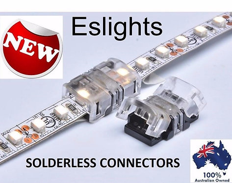 4X 8MM STRIP LIGHT SNAP CONNECTOR 3528 3014 4014