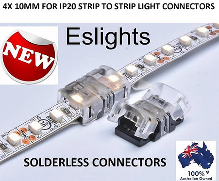 4X 10MM STRIP LIGHT SNAP CONNECTOR 5050 5630