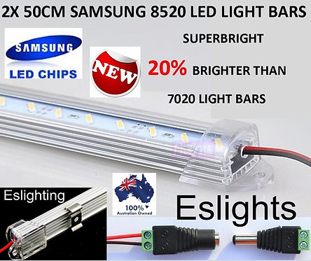 2X 12V 50CM 8520 SAMSUNG LED CAMPING LIGHT BARS