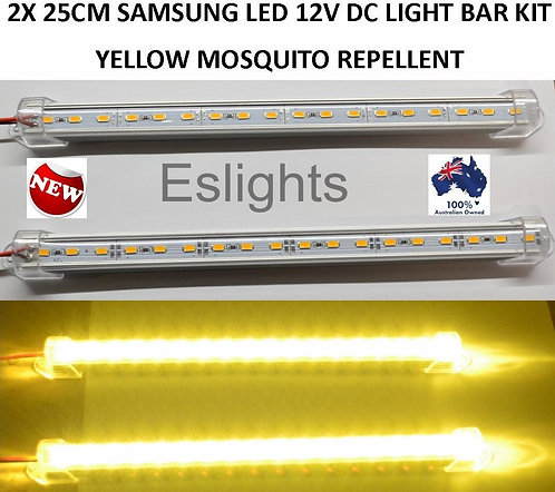 2X 25CM MOSQUITO REPELLENT LED LIGHT BAR CAMPING