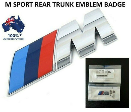 1X REPLACEMENT M SPORT LOGO BADGE STICKER BMW BOOT TRUNK M1 M2 M3 M5 M6