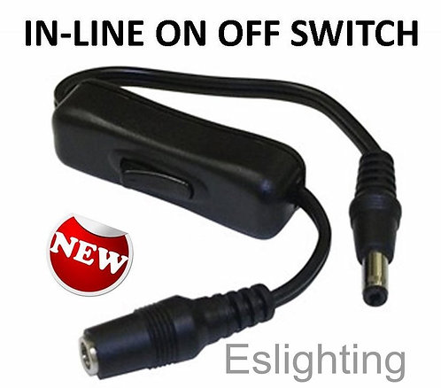 INLINE ON OFF SWITCH + BUILT IN CONNECTORS