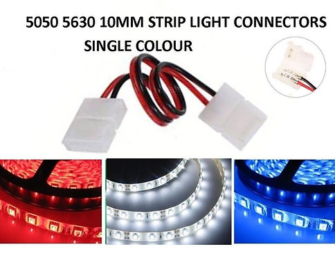 4X 10MM DOUBLE ENDED STRIP LIGHT CONNECTORS