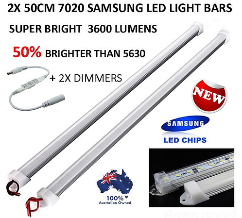 2X 12V 50CM SAMSUNG LED DIMMABLE LIGHT BAR UTE 4WD