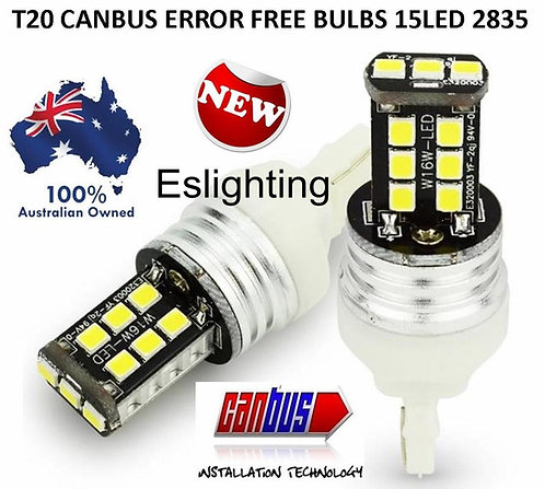 2X T20 7443 CANBUS REVERSE STOP SIGNAL 15 LED BULBS