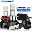 2Pcs-100W-25000LM-LED-Headlight-H1-H4-H7