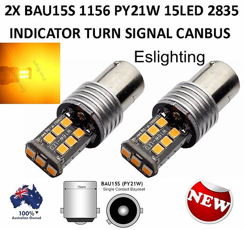 2X BAU15S 1156 PY21W INDICATOR TURN  LED BULB