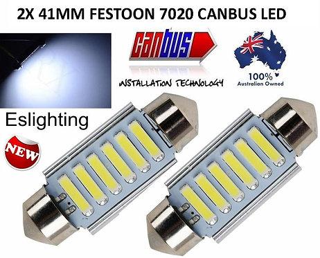 2X 41MM CANBUS FESTOON 6 LED 7020 BULB