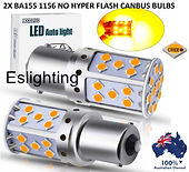 2X BA15S LED AMBER YELLOW CANBUS INDICAT