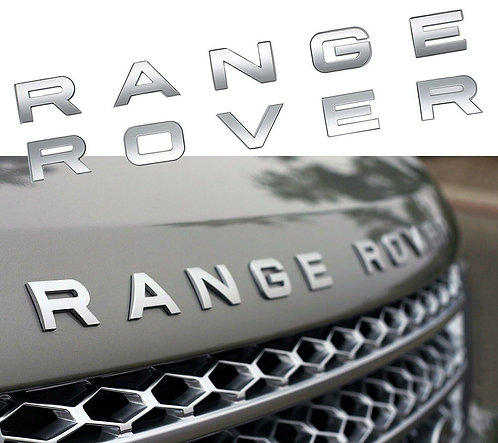 NEW MATTE SILVER RANGE ROVER HOOD BONNET REAR TRUNK STICKER LETTER DECAL BADGE