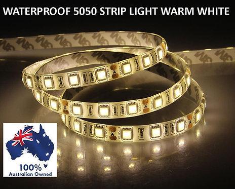 5 METER WATERPROOF 5050 STRIP LIGHT WARM WHITE