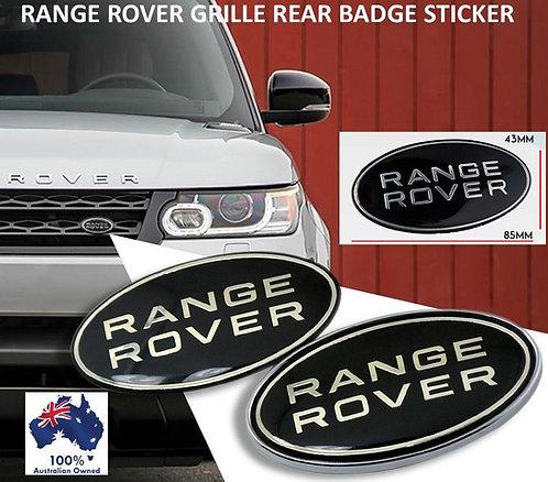 1X RANGE ROVER FRONT REAR BADGE STICKER
