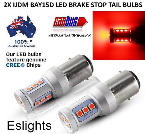 2X IJDM 1157 BAY15D CANBUS BRAKE STOP TAIL LIGHT LED BULBS