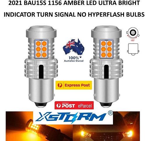 2X 2021 XSTORM 1156 BAU15S CANBUS INICATOR TURN SIGNAL LED BULBS