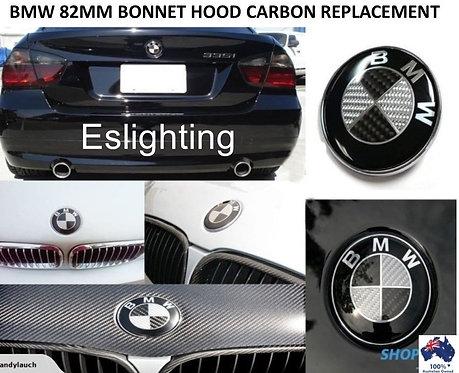 Carbon 82mm BMW Boot / Trunk / Bonnet / Hood Badge Emblem for E38 E39 E46 E60 E