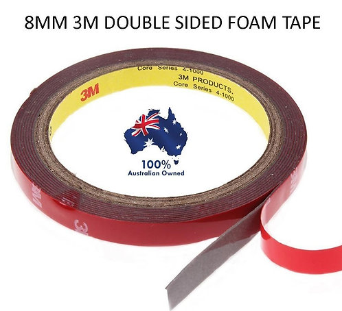 2x 3m 8mm HIGH STRENGTH DOUBLE SIDED STICKY TAPE