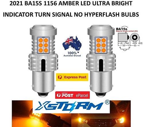 2X 2021 XSTORM 1156 BA15S CANBUS INICATOR TURN SIGNAL LED BULBS