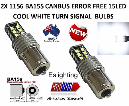 2X BA15S CANBUS REVERSE TAIL LIGHT 15 LED BULB