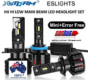 H4 HI LOW MAIN BEAM LED HEADLIGHT SET.jp