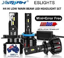 H4 HI LOW MAIN BEAM LED HEADLIGHT SET.jp