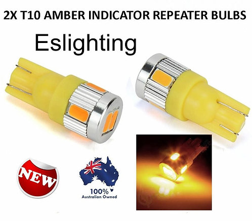 2X T10 W5W AMBER LED INDICATOR REPEATER IDE LIGHT