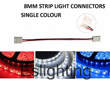 4X 8MM DOUBLE ENDED STRIP LIGHT CONNECTORS