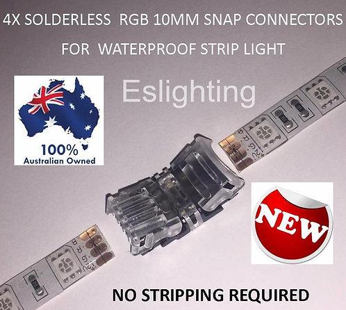 4X RGB 10MM STRIP LIGHT TO STRIP SNAP CONNECTOR