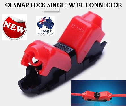 10X SNAP LOCK ELECTRICAL WIRE TERMINALS