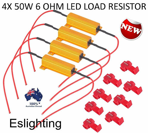 4X 50W LED LOAD RESISTOR HYPER FLASHING INDICATORS