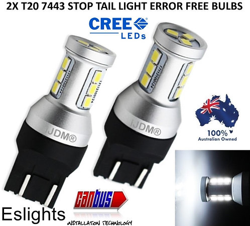 2X IJDM T20 7443 CANBUS REVERSE STOP SIGNAL LED BULBS