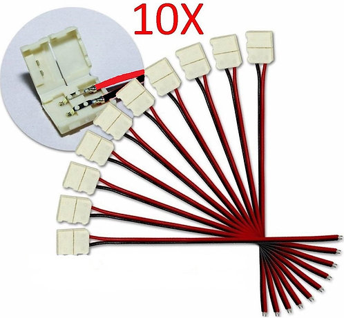 10X 5050, 5630 STRIP LIGHT CONNECTORS 10MM PCB